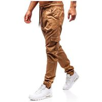 Spodnie joggery bojówki męskie camelowe Bolf 0404, bojówki