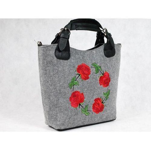 filcowa torebka torebki filcowe haft róże - 20 marki Tara