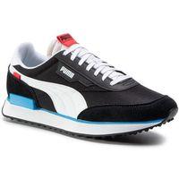 Sneakersy - future rider play on 371149 14 p. black/p. white/ibiza blue marki Puma