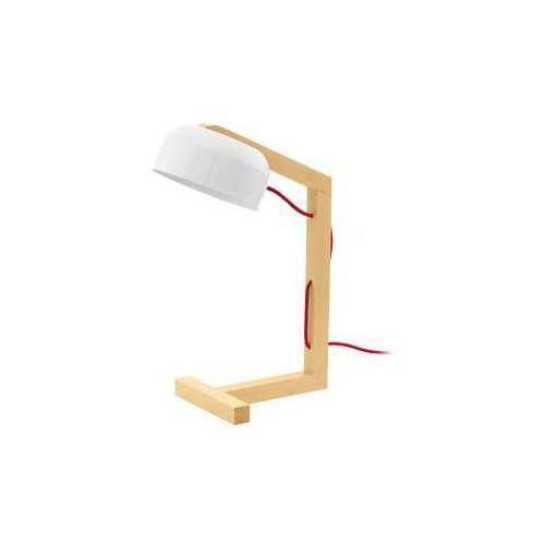 Eglo Lampa stołowa gizzera 94035 oprawa 1x60w e27 biała