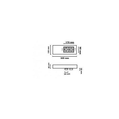 PLUS ON L21 W TRIAC 48.6102.D66. OPRAWA SUFITOWA REGULOWANA LED 2700K CHORS