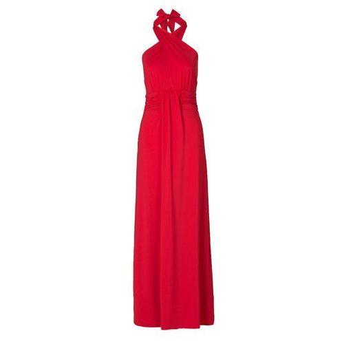 Sukienka z założeniem kopertowym bonprix czerwony