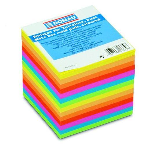 Kostka DONAU nieklejona, 90x90x90mm, ok. 700 kart., mix kolorów