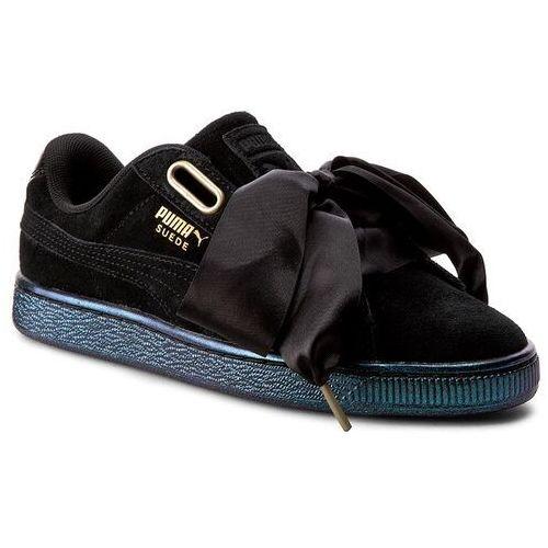 Sneakersy - suede heart satin wn's 362714 03 puma black/puma black marki Puma