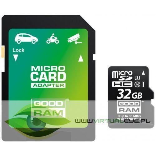 Virtualeye Karta pamięci micro sd goodram uhs1 cl10 u3 32gb + adapter
