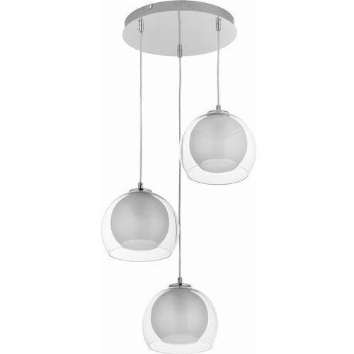 TK Lighting Napoli 2387 Lampa wisząca 3x60W E27, transparent/chrom (5901780523879)