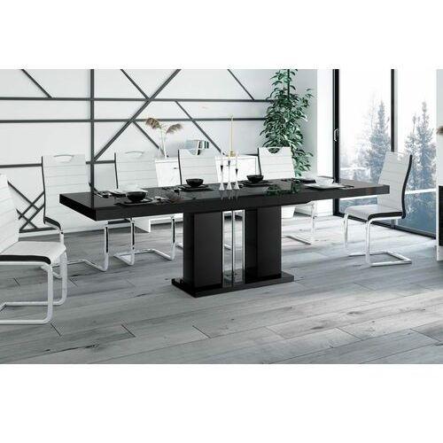 Stół rozkładany LINOSA 160-260 cm czarny połysk