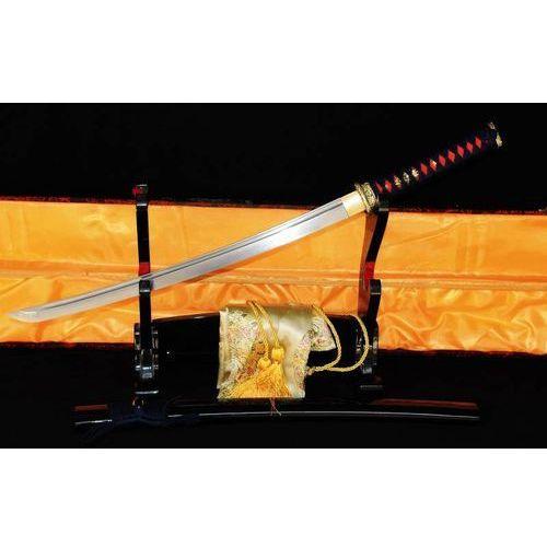 Miecz samurajski wakizashi do treningu, stal wysokowęglowa 1095 warstwowana damasceńska, r316 marki Kuźnia mieczy samurajskich