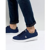 Original penguin stedaman canvas trainers in navy - blue