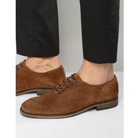 Selected homme bolton perforated shoes - brown