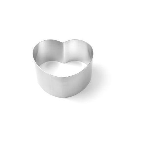 Zestaw rantów piekarniczo-cukierniczych w kształcie serca, o średnicach 150, 250, 350, 450 mm, 4 szt.   HENDI, 512456