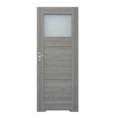Drzwi z podcięciem do WC Tre 70 prawe dąb szary (5902398778125)