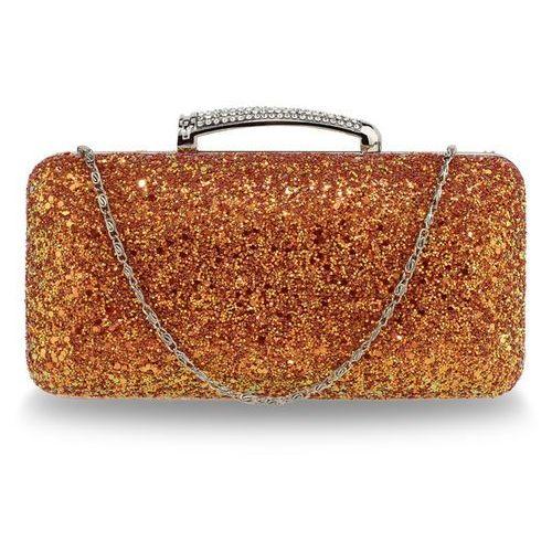 Mieniąca torebka wizytowa pomarańczowa - złoty ||pomarańczowy, kolor pomarańczowy