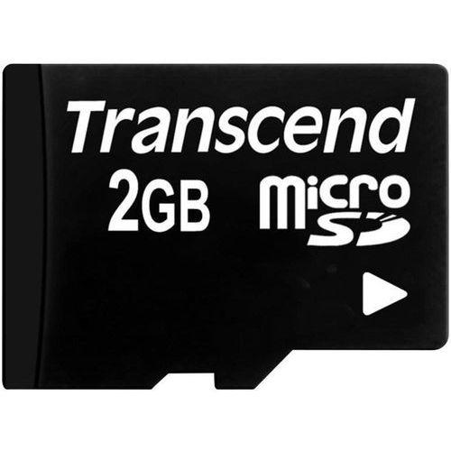 Karta pamięci microsd  ts2gusdc, 2 gb, class 2, 2 mb/s / 2 mb/s marki Transcend