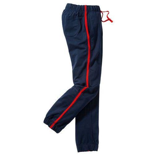 Spodnie sportowe regular fit ciemnoniebieski marki Bonprix
