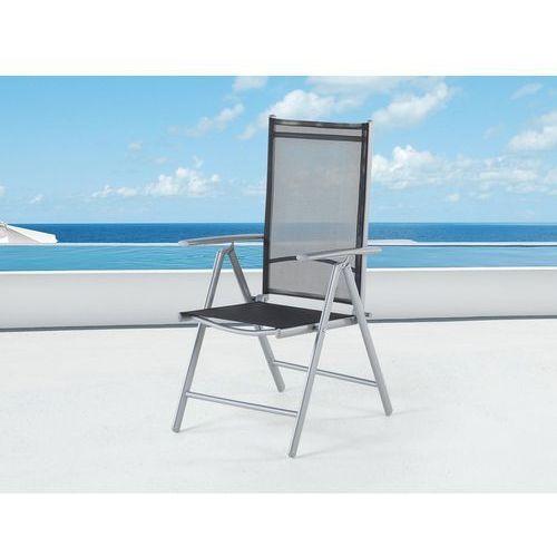 Beliani Elegancke krzesło aluminiowe meble ogrodowe catania (7081454479928)