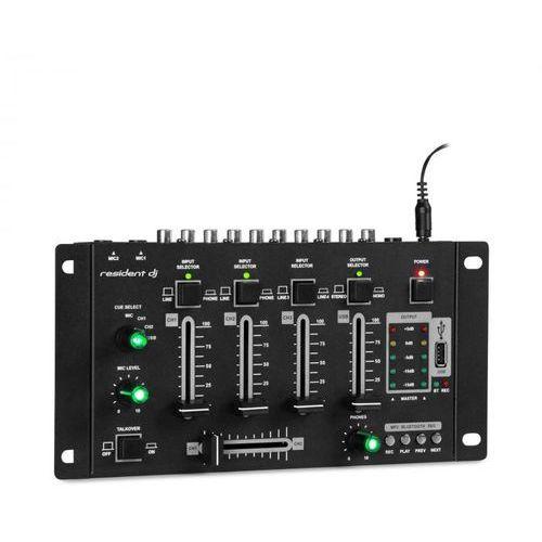 Amnesia 4-kanałowy pulpit mikserski, BT, USB, MP3, 2 x micro, kolor czarny