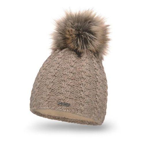 Zimowa czapka damska PaMaMi - Kawa z mlekiem - Kawa z mlekiem (5902934037518)