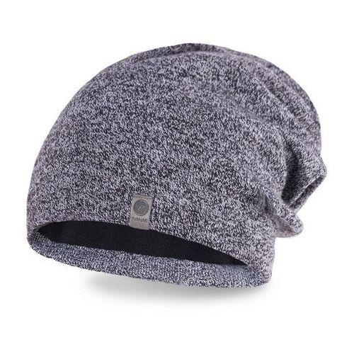 Zimowa czapka męska PaMaMi - Jasnoszara mulina - Jasnoszara mulina