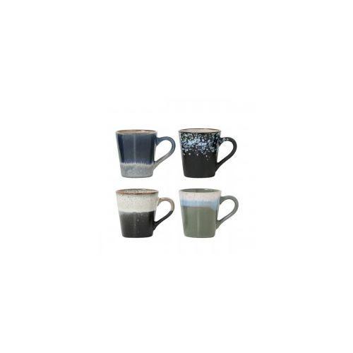 Zestaw kubków do espresso ceram. 70's - HK Living, ACE6004