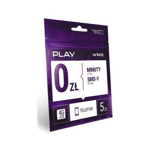 Starter PLAY na Kartę rozmowy i SMS-y w Play za darmo 5 PLN