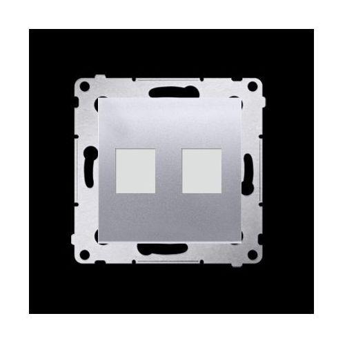 Pokrywa gniazd teleinformatycznych na keystone płaska podwójna (moduł); srebrny mat marki Kontakt-simon