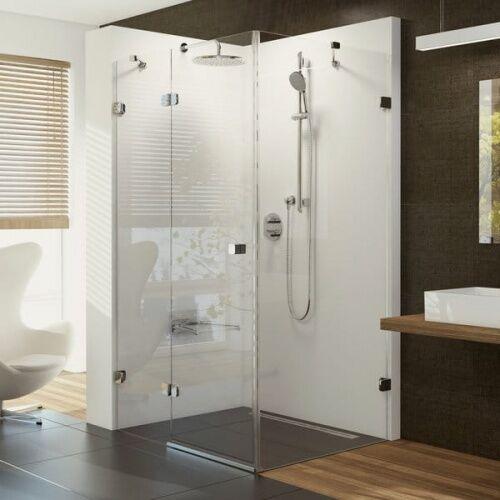 Ravak Brillant BSDPS-100/100 P kabina prysznicowa 100 cm kwadratowa prawa szkło transparentne 0UPA0A00Z1, 0UPA0A00Z1