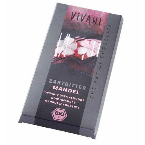 Vivani: czekolada gorzka z migdałami BIO - 100 g