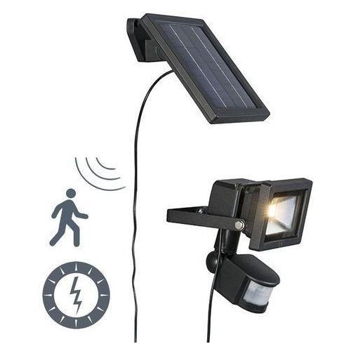 Zewnetrzna lampa solarna sunny led z czujnikiem na podczerwien marki Qazqa