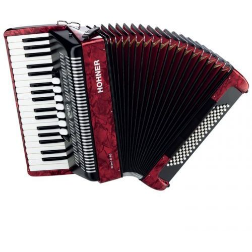 Hohner Bravo III 80 akordeon (czerwony)