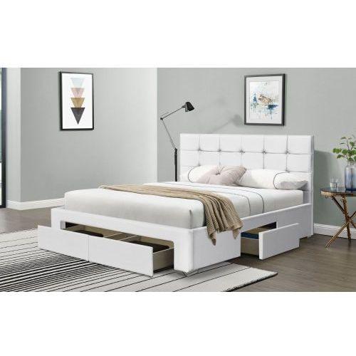 Łóżko tapicerowane do sypialni 140x200 sf921 biały marki Meblemwm