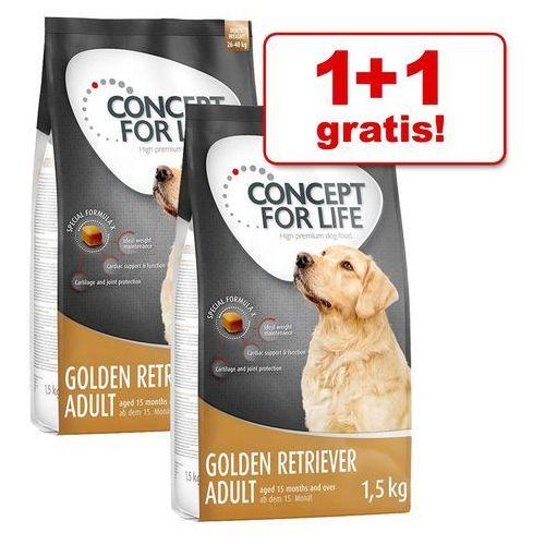 Concept for life 1+1 gratis! karma sucha dla psa, 2 x 1,5 kg - large adult| darmowa dostawa od 89 zł + promocje od zooplus!| -5% rabat dla nowych klientów