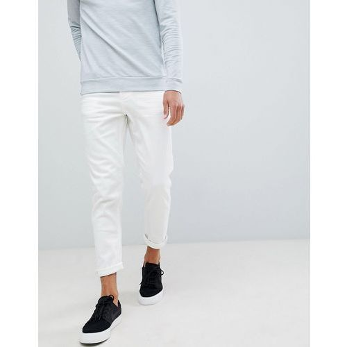tapered jeans in white - white marki New look