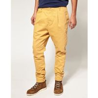 Asos drop crotch chino - yellow