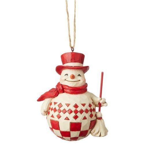 Jim shore Bałwanek zawieszka nordic noel snowman (hanging ornament) 6004232 figurka ozdoba świąteczna