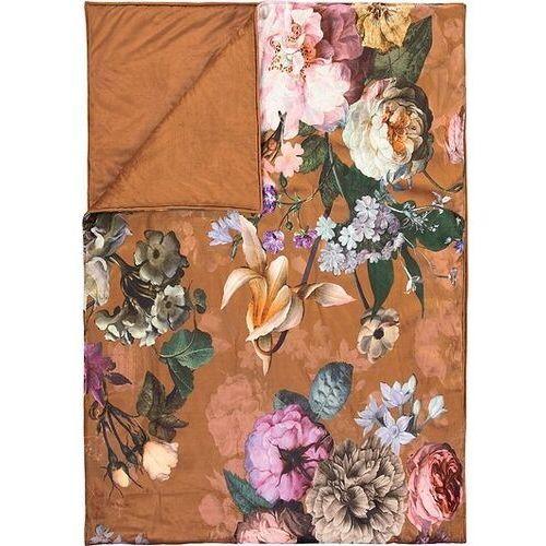 Narzuta fleur brązowa 220 x 265 cm