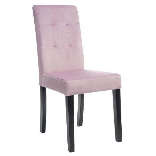 Meblemwm Krzesło tapicerowane drewniane my8683 różowy welur