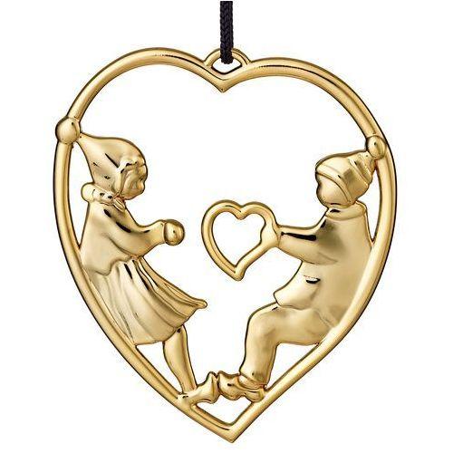 Ozdoba świąteczna Rosendahl Karen Blixen serce z elfami złote