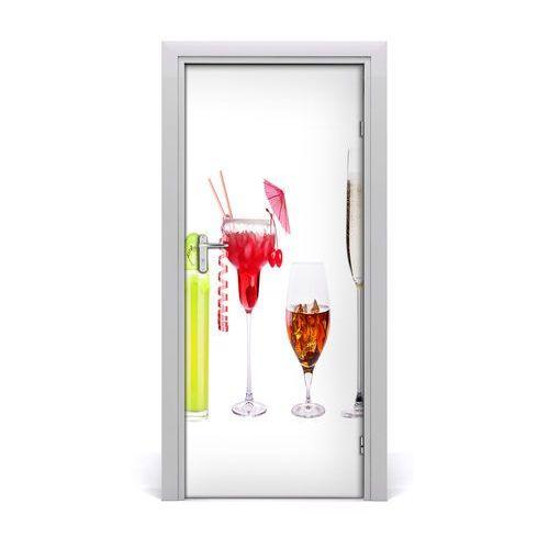 Naklejka na drzwi samoprzylepna Kolorowe koktajle