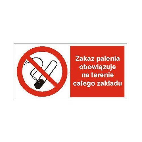 Znak zakaz palenia obowiązuje na terenia całego zakładu 400x200 pb marki Techem