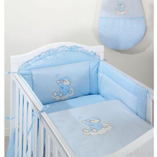 ochraniacz do łóżeczka 70x140 śpioch na chmurce w błękicie - promocja marki Mamo-tato