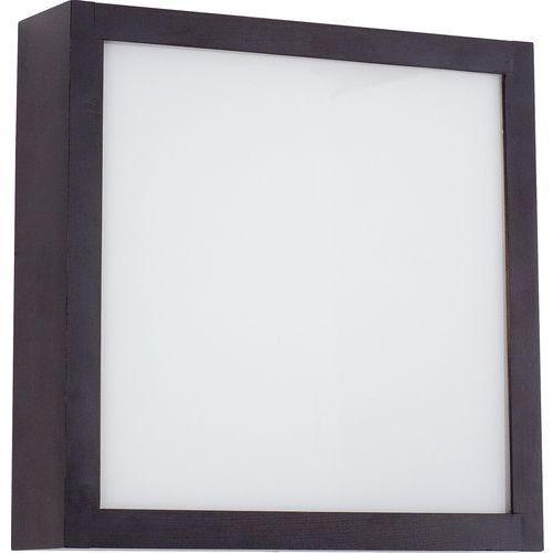Nowodvorski Plafon nagano s 4290 kwadratowy lampa sufitowa oprawa 2x60w e27 wenge (5903139429092)