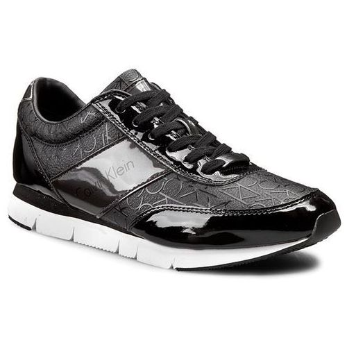 Sneakersy CALVIN KLEIN JEANS - Juan Silicon Ck Logo/Metallic SE8545 Black/Pewt, kolor czarny