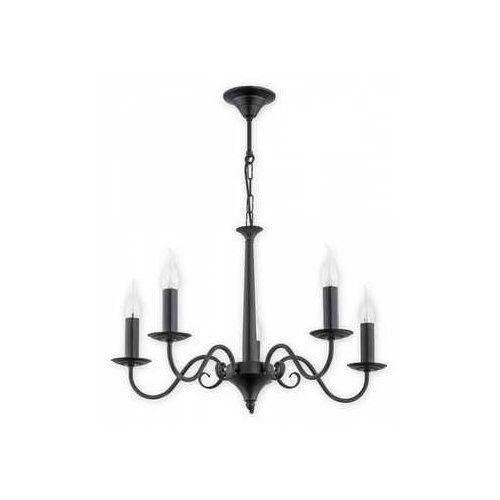 asti o2895 w5 cza lampa wisząca zwis 5x60w e14 czarny matowy marki Lemir