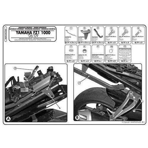 Stelaż pod kufer centralny do Yamaha FZ1 N [06-12] - Givi 365FZ (zgodny z Kappa KZ356)