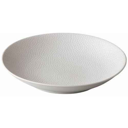 Talerz do pasty Honeycomb biały   śr. 255 mm