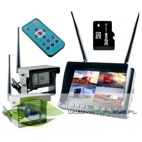 Bezprzewodowy monitor 2x kamera cofania 24v 32gb marki Virtualeye