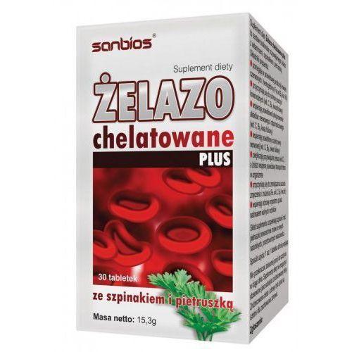 Żelazo Chelatowane PLUS 30 tabl (Witaminy i minerały)