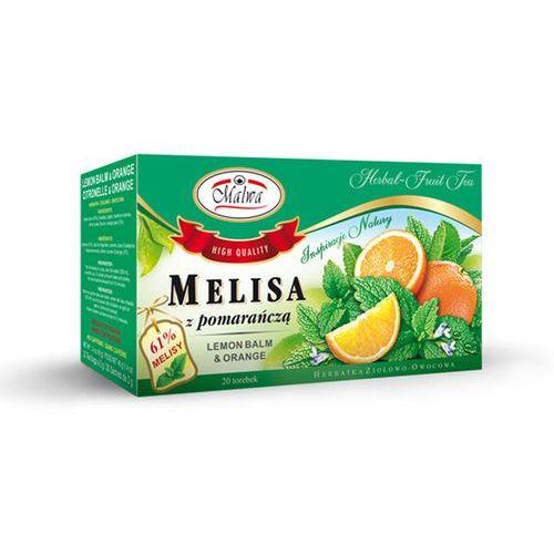herbata ziołowa melisa z pomarańczą 20tb marki Malwa tea