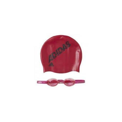 Adidas zestaw pływacki okularki + czepek ab6070